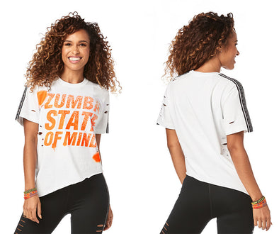Zumba State Of Mind Ripped Tee - Wear it out White Z1T01896