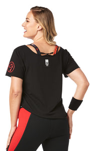 Zumba Dancing With The Homies Tulip Top - Bold Black Z1T01897