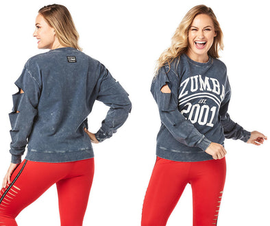 Zumba Est. 2001 Slashed Pullover - Night Sky Z1T01997
