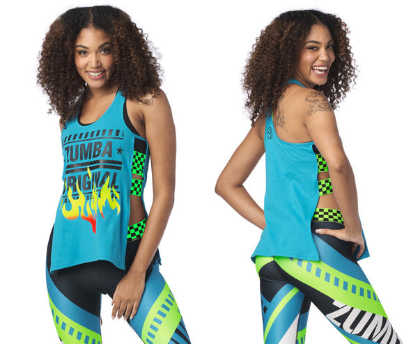 Zumba Original Side Open Tank- Seaside Surf Z1T02003