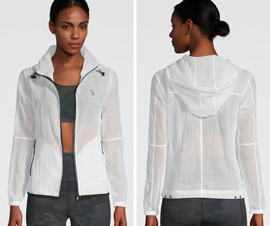 Strong ID Mesh Zip-Up Jacket - White Z1T02230
