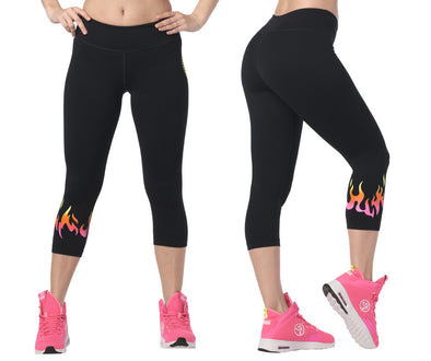 Zumba Let's Go Capri Leggings  - Bold Black Z1B00993