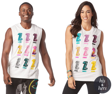 Zumba I Want My Zumba Instructor Muscle Tank - Wear it out White Z3T00172