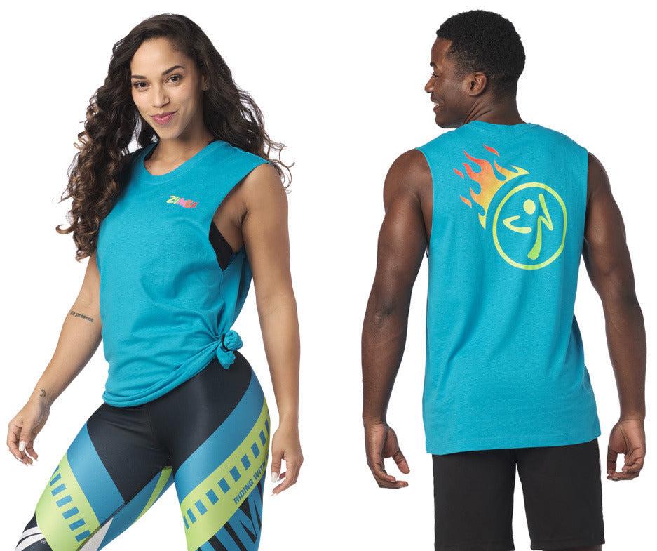 zumba Better Faster Muscle Tank - Seaside Surf Z3T00260
