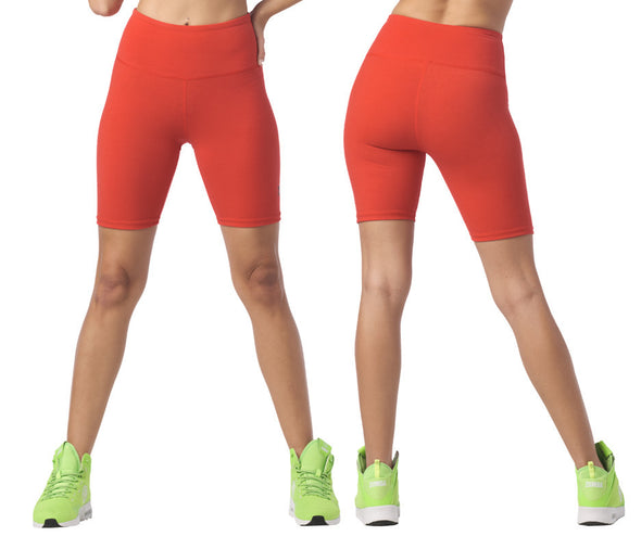 Zumba Spirit Biker Shorts - Really Red-y Z1B01127