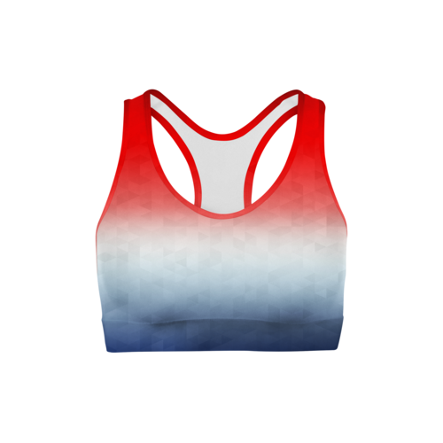 Patriotic Triangles Sports Bra