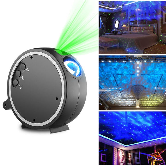 LED Projection Romantic Night Lamp, Blue Star Projector Light for Birthday Parties