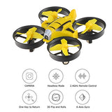 Mini RC Drone 2MP HD Camera Pocket Size UFO Quadcopter, Kingtoys 2.4G 4CH 6 Axis Gyro Headless Mode Remote Control Nano Helicopter