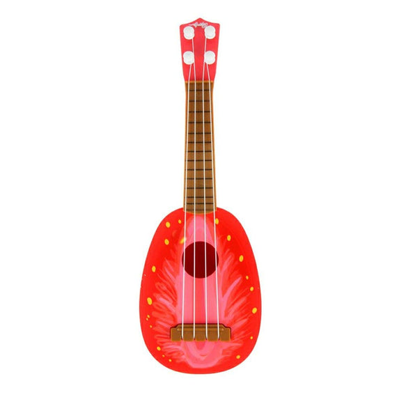 Geediar Creative Fruit Style Guitar Toys 4 string Musical Instrument Toys for 2-4 Years old Children (Strawberry)