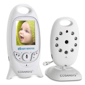 Baby Monitor with Camera Intercom Digital (Night Vision, Temperature Sensor, 8 Lullabies), 2.0 Inch LCD Display