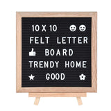 Changeable Letter Board 10'' X 10'', Felt Message Board Include 322 Letters and Wooden Frame