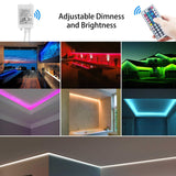 Waterproof LED Strip Lights 32.8ft (10m) RGB 300LEDs Color Changing 5050 Dimmable