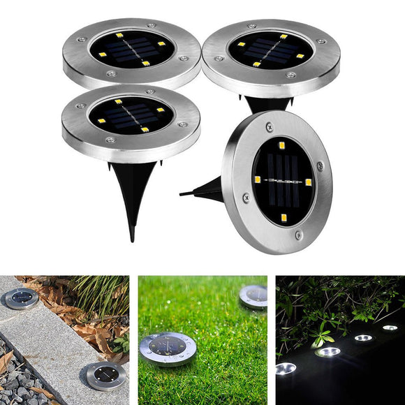 4 x Solar Lights ground Lamp 4 leds 40LM Water-resistant Outdoor Lighting Garden lighting White light color