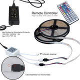 10m strip light remote controlled LED strip with memory RGB with receiver converter and power supply 12V 5 A