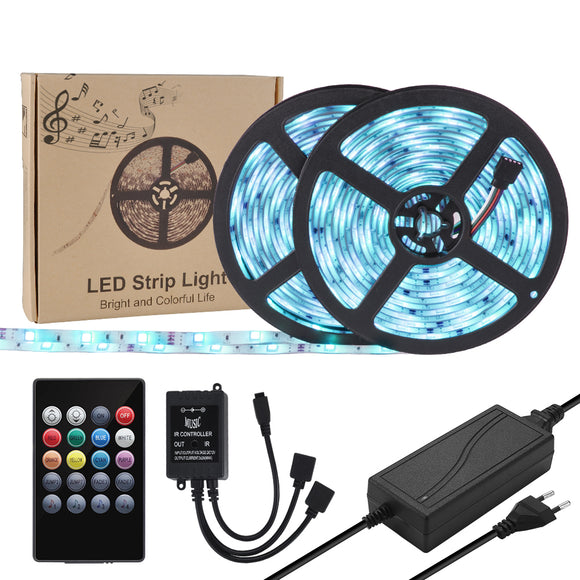 Waterproof RGB LED Music Strip Light 300LEDs