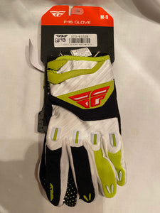 Fly Racing F-16 Gloves Size M-9 New Black Lime BMX Motocross ATV Off Road