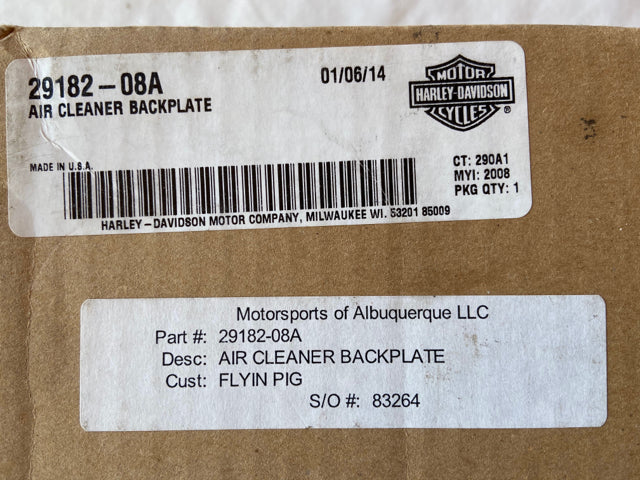 Harley Davidson Air Cleaner Backplate 29182-08A