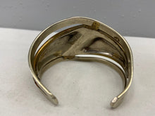 Load image into Gallery viewer, Silver and Brass Contemporary Style Cuff Bracelet