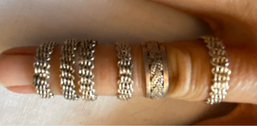 Sterling Silver 7 g  Mexico Rings Lot of 6