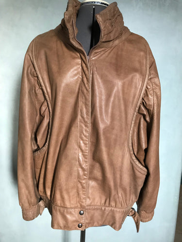Renatta Viintage Brown Leather Jacket