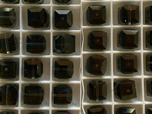 Load image into Gallery viewer, Vintage Swarovski Crystal Cube 8mm Beads Morion 66 pcs Lot #7