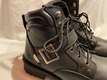 Load image into Gallery viewer, Z1R Trekker Mens  Boots Black Leather NIB Motorcycle Motocross