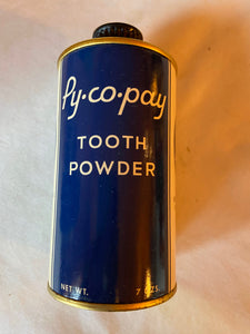 Vintage Py-Co-Pay Tooth Powder 7 oz Bottle Boxed