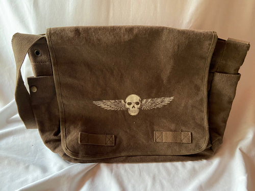 TaosEdge Canvas Messenger Bag Chocolate Flying Wings By Dan Enger