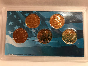 2007 State Quarters Gold Plated in Case First Commemorative Mint