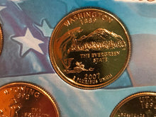 Load image into Gallery viewer, 2007 State Quarters Gold Plated in Case First Commemorative Mint