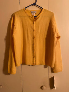 Pendleton Lambswool Womens Cardigan Size L Yellow NWT