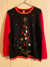 Load image into Gallery viewer, Holiday Time Ugly Christmas Sweater Jr Size L (12-14) Acrylic