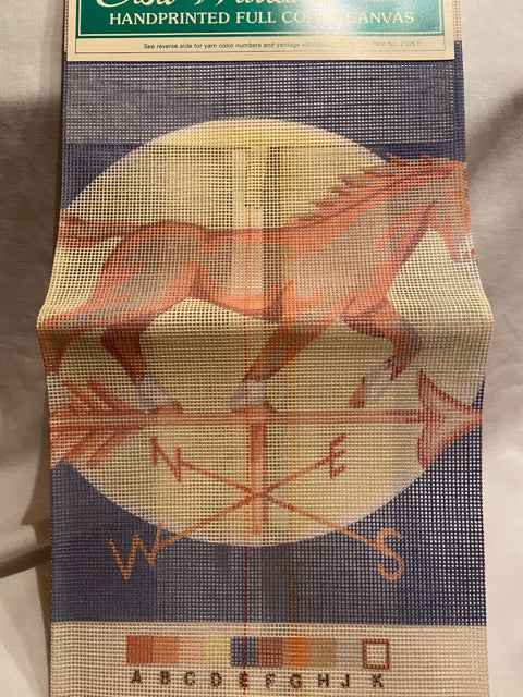 Elsa Williams Clydesdale Weathervane 23261 Needlepoint Canvas 12x12