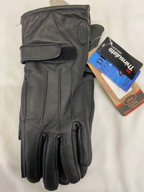 River Road Taos Womens Riding Gloves Sz L Black Leather NWT 091601