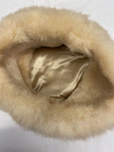 Load image into Gallery viewer, Womens Sheepskin Fur Vintage Pilbox Cossack Style Hat