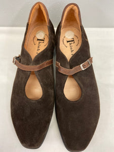 Think! Chocolate Suede Low Heels New Size 42