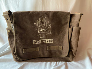 Taos Edge Canvas Messenger Bag Chocolate Manus Virtus by Chipper Thompson