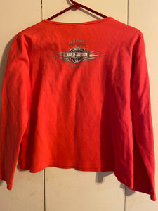 Harley Davidson Motorcycles Salida CA Rose Red Top XL