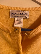 Load image into Gallery viewer, Pendleton Lambswool Womens Cardigan Size L Yellow NWT