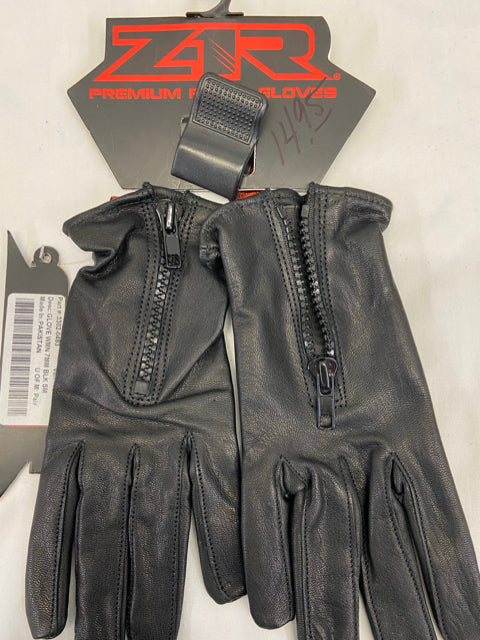 ZIR Womens Riding Gloves Size S Black Leather NWT 3302-0483
