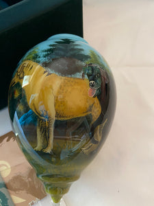 Ne 'Qwa Art Glass Ornament Companion by Robert Schmidt Boxed