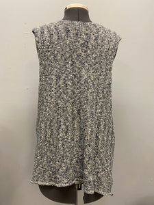 Eskandar Vest Variegated Grays Cotton Linen Blend