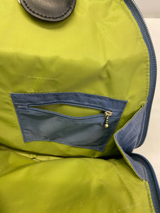 Baggallini Convertible Metro Sling  Backpack Purse Blue Gray
