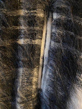 Load image into Gallery viewer, Andrew Stewart Black & White Plaid Mohair Cape Woven Scotland