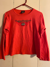 Load image into Gallery viewer, Harley Davidson Motorcycles Salida CA Rose Red Top XL