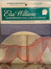 Load image into Gallery viewer, Elsa Williams Clydesdale Weathervane 23261 Needlepoint Canvas 12x12""
