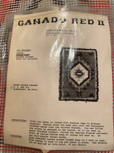 Load image into Gallery viewer, Latch Hook Rug Pillow Hanging Canvas Only  Ganado Red II 14x20""