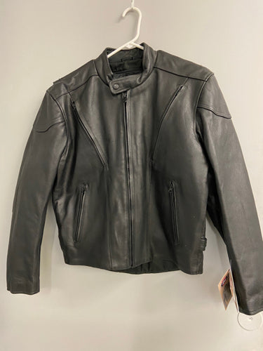 River Road Mens Black Leather Race Vented Sz 40 Riding Jacket NWT