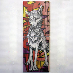 Yote Two Part Canvas Wrap Print Scripture Taos NM Vagrant Heart 12x32""