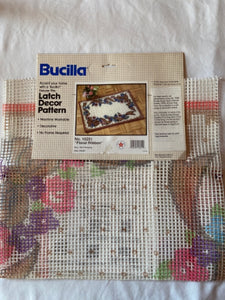 Bucilla Latch Hook Rug Canvas Only Floral Ribbon 16251 24x36""